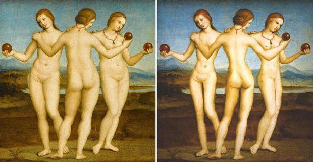 Raffaello-le-Tre-Grazie-1504-1505-l-originale-e-la-versione-by-Lauren-Wade_image_ini_620x465_downonly